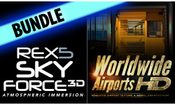 REX 5 Sky Force + Worldwide Airports Bundle