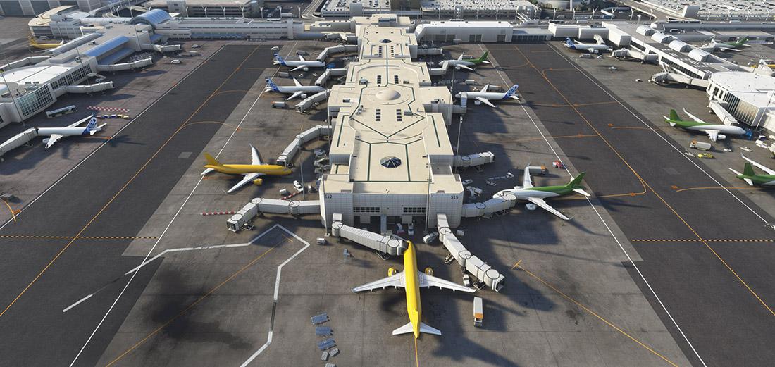 KLAX with REX Airport Textures