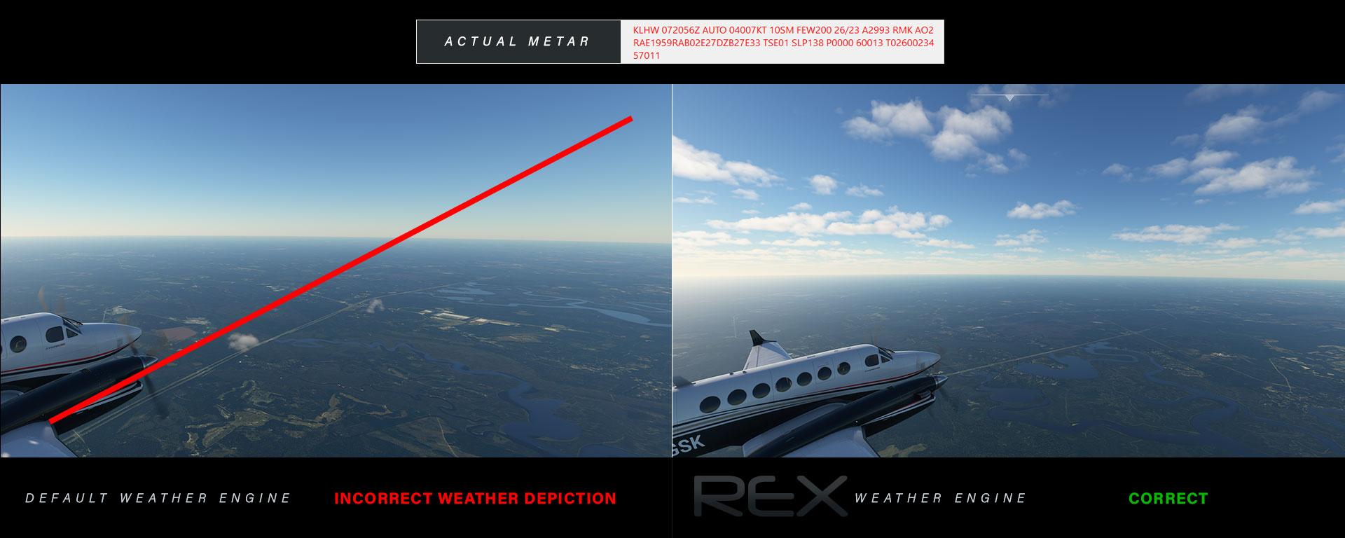 Sample of correct metar representation from REX